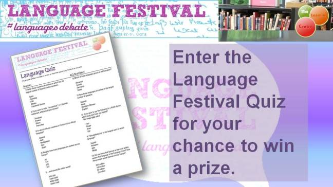 Flyer for the Language Festival Quiz