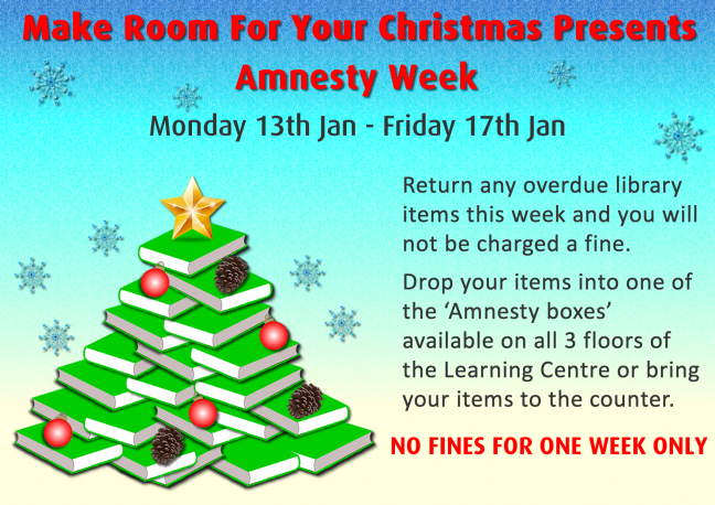 Poster for January amnesty on fines