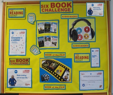 Six Book Challenge display