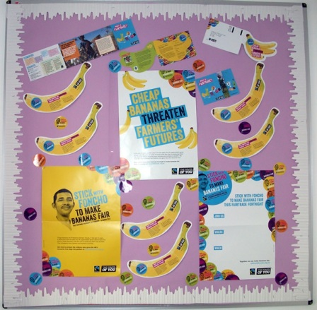 Fairtrade Fortnight display
