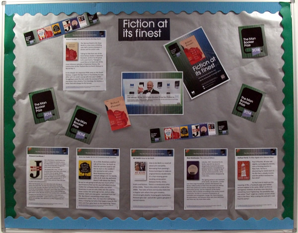 Man Booker Prize wall display