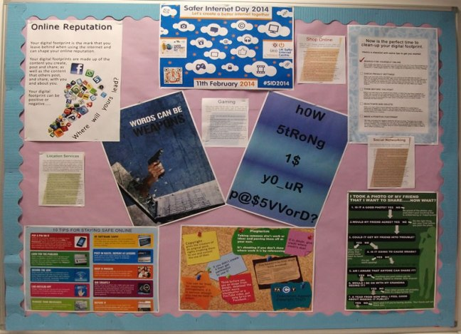 Safer Internet Day display