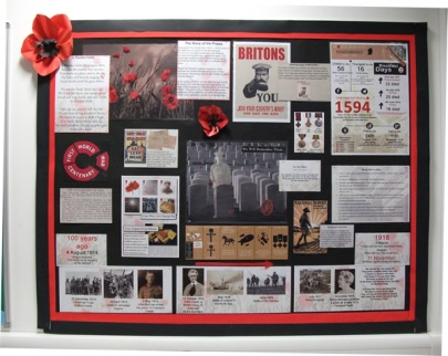 WWI Centenary wall display