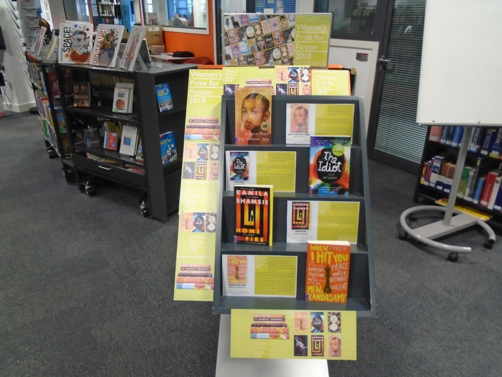 The Library's 'Prize for Women's Fiction' 2018. Including the shortlisted books 'The Idiot' and 'When I Hit You, or the Portrait of the Writer as a Young Wife'.