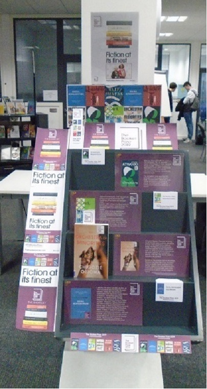 Booker prize display 2019