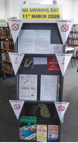 Display for No Smoking day 11th March 2019
