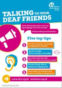 Link to the poster 'Talking to Your Deaf Friends'