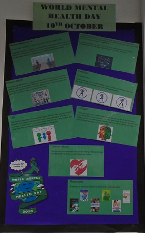 World Mental Health Day 10th October 2020 display