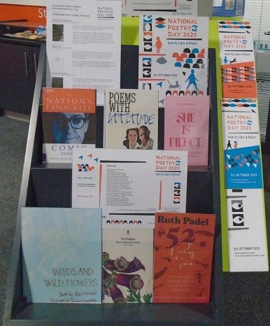 National poetry day 2020 display