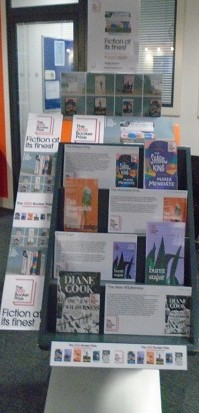 Booker prize library display, fiction at it's finest 2020