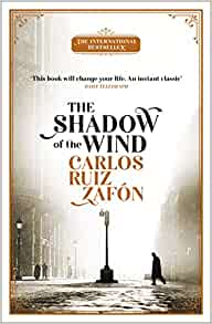 Book cover for 'The Shadow of the wind' by Carlos Ruiz Zafon