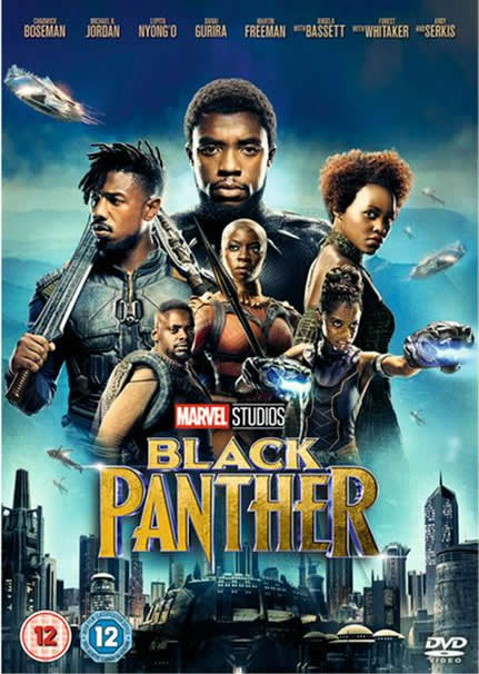 DVD cover - Marvel Studio's Black Panther featuring Chadwick Boseman.